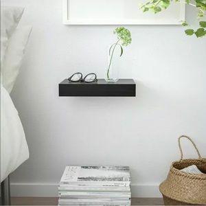 Ikea Lack Black Floating Wall Shelf